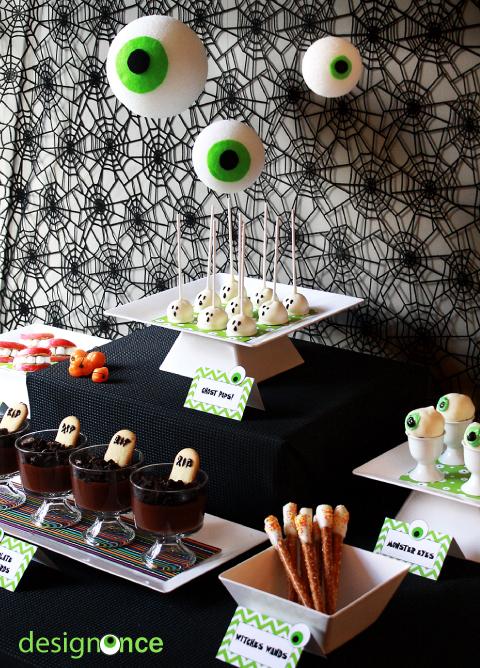 Last Minute Halloween Dessert Table Design Once
