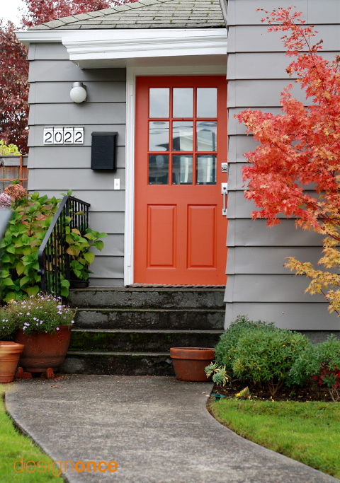 15 colorful front door ideas design sponge - What color door goes with gray house ...